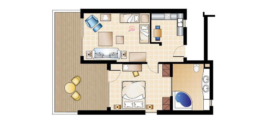 deluxe-bungalow-suite-kitchenette-floorplan-kos-imperial